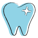 Cartoon image of a healthy, sparkling tooth for the tooth decay blog